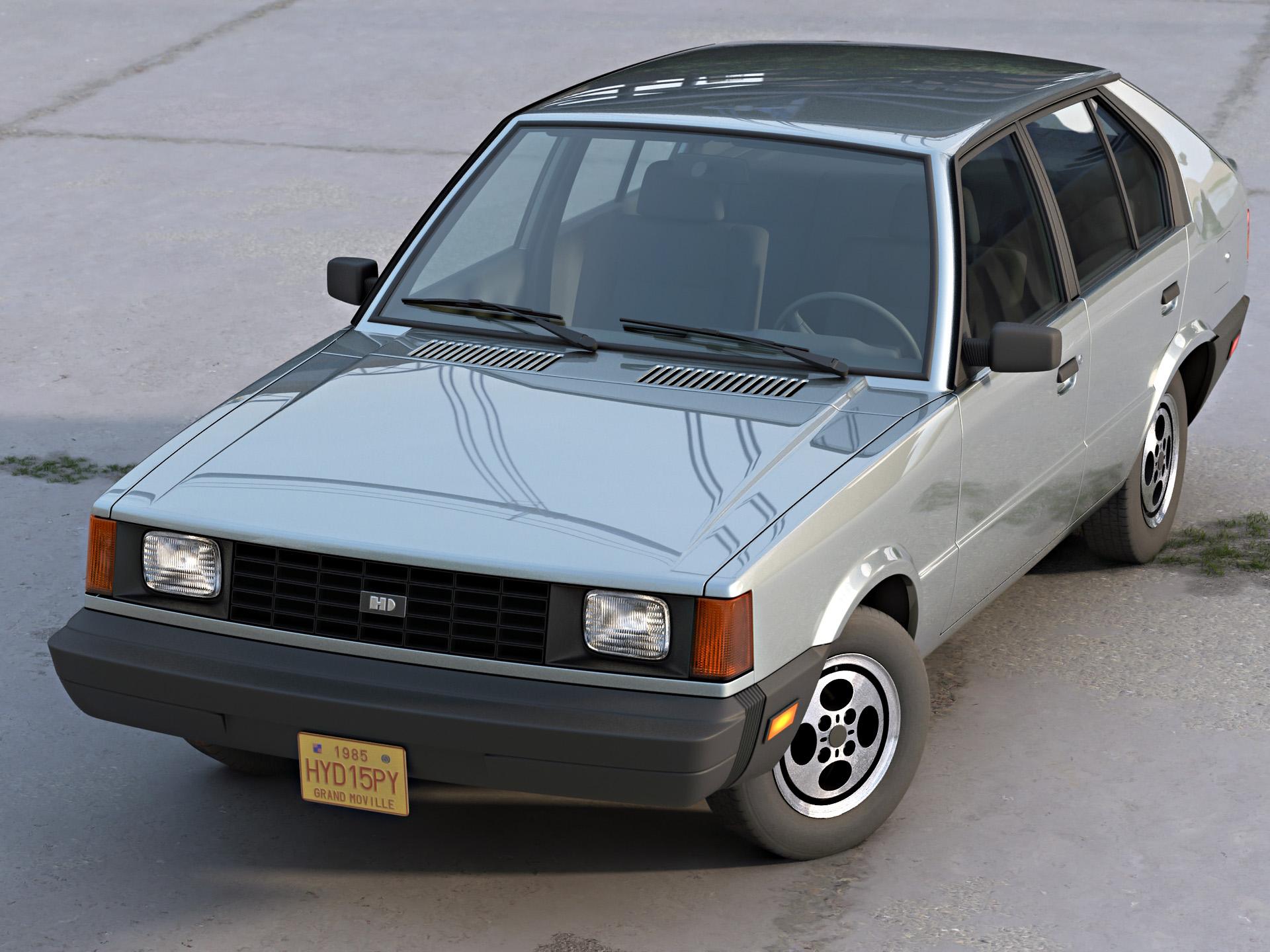 Hyundai Pony Canada 1985 3d model 3ds max fbx c4d dae obj 277760