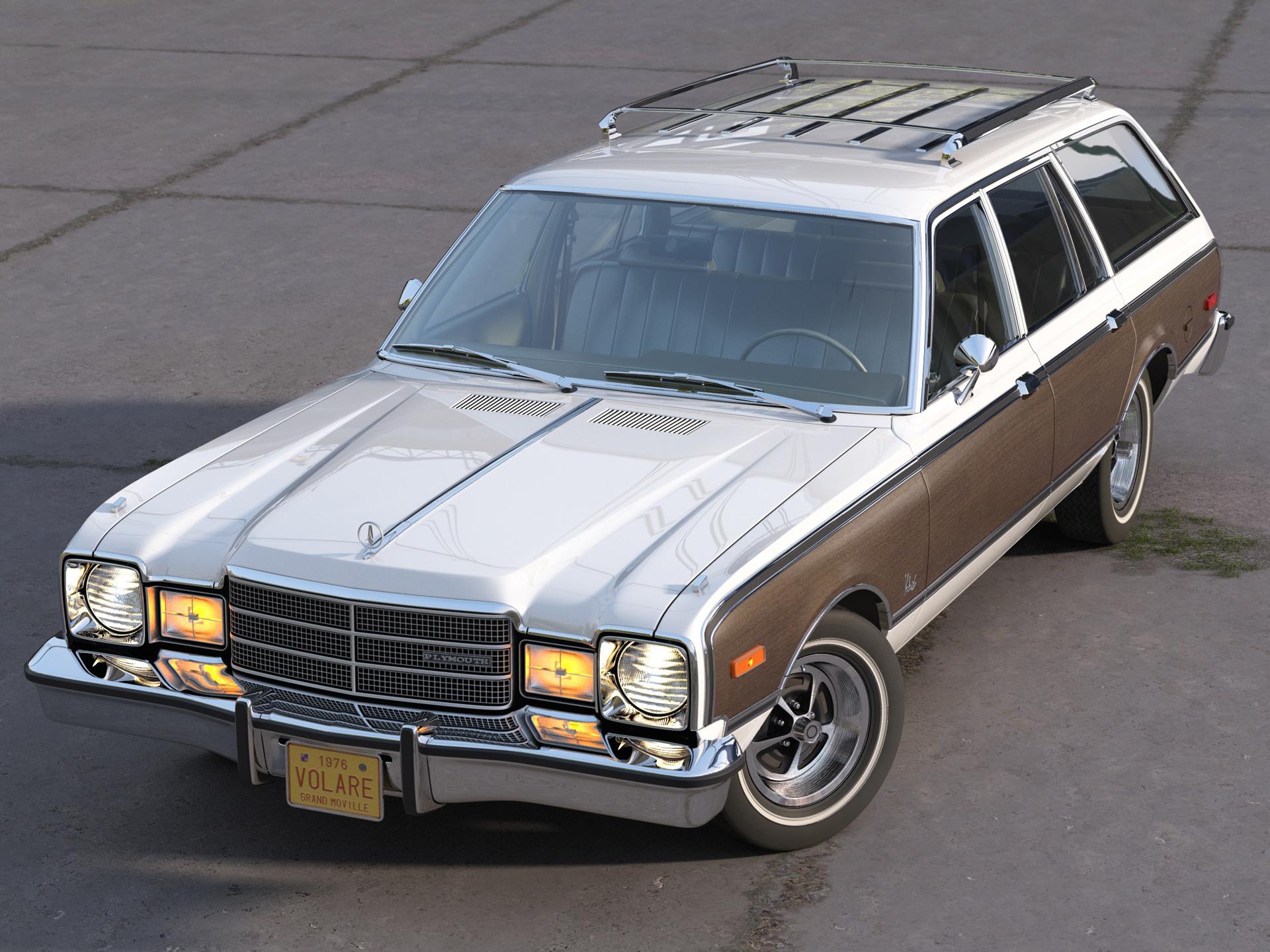 plymouth volare wagon 1976 3d modelis 3ds max fbx c4d obj 277767