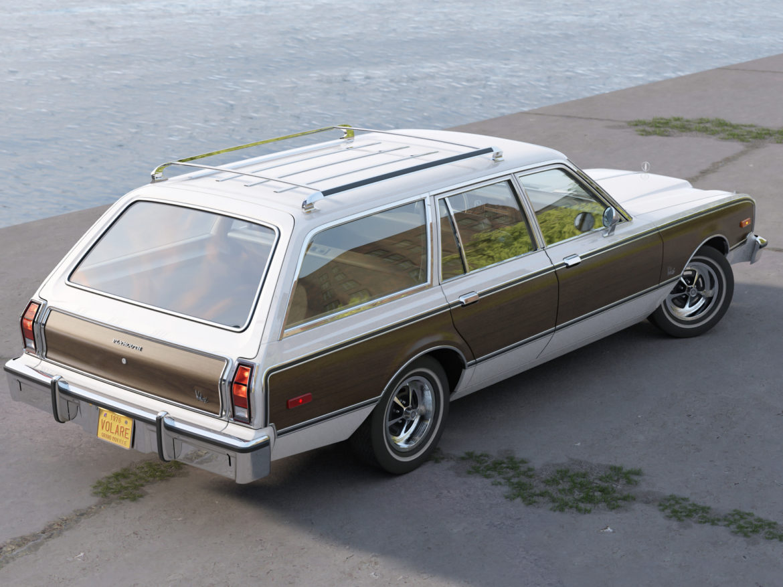 plymouth volare wagon 1976 3d model 3ds max fbx c4d obj 277768