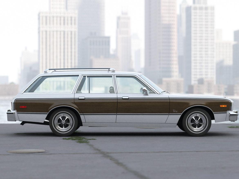 plymouth volare wagon 1976 3d model 3ds max fbx c4d obj 277770