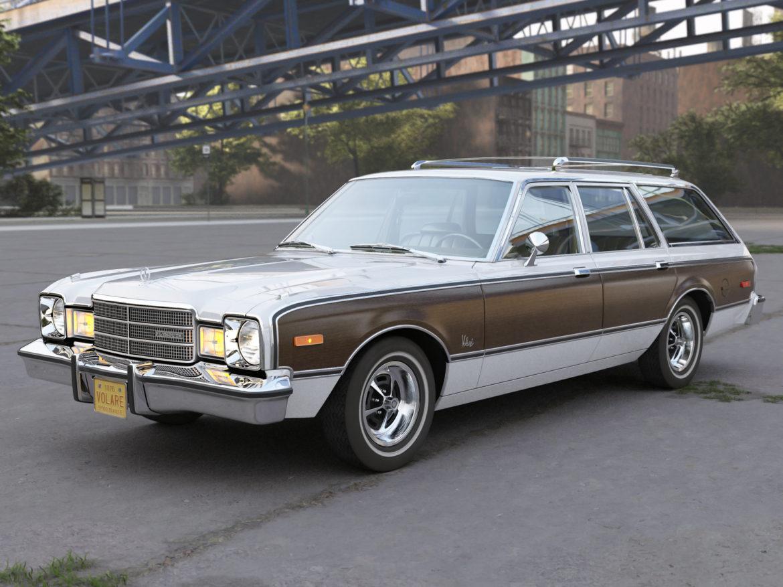 plymouth volare wagon 1976 3d model 3ds max fbx c4d obj 277772