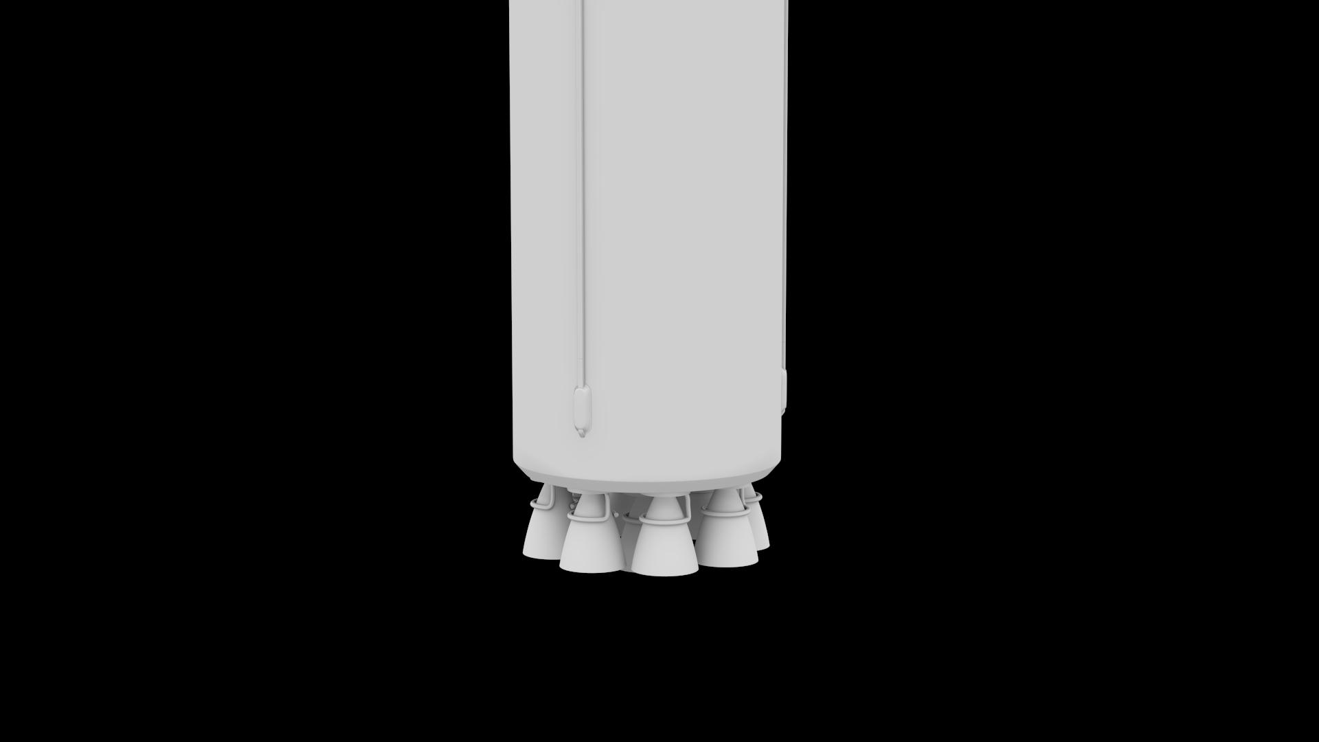falcon 9 v1.2 non reusable 3d model max fbx c4d lwo ma mb hrc xsi obj 277793