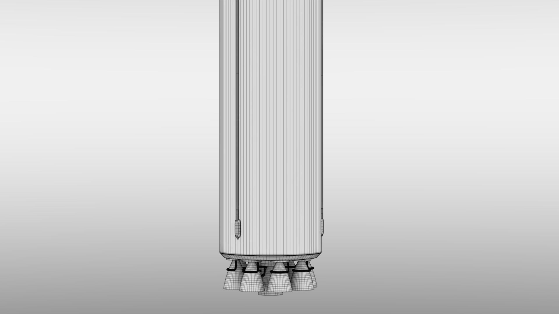 falcon 9 v1.2 non reusable 3d model max fbx c4d lwo ma mb hrc xsi obj 277799