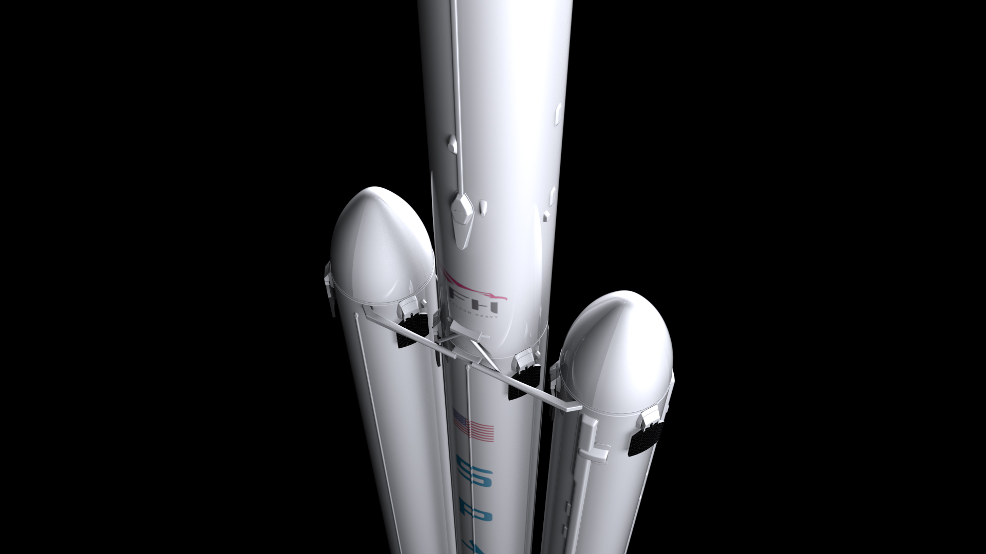 falcon heavy v1.2 3d model max fbx c4d lwo ma mb hrc xsi obj 277813