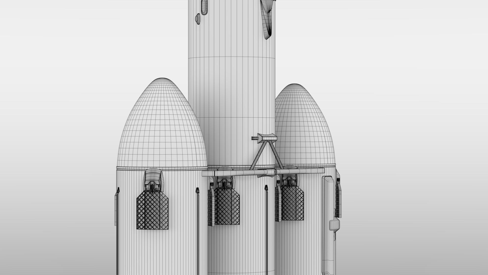 falcon heavy v1.2 3d model max fbx c4d lwo ma mb hrc xsi obj 277828
