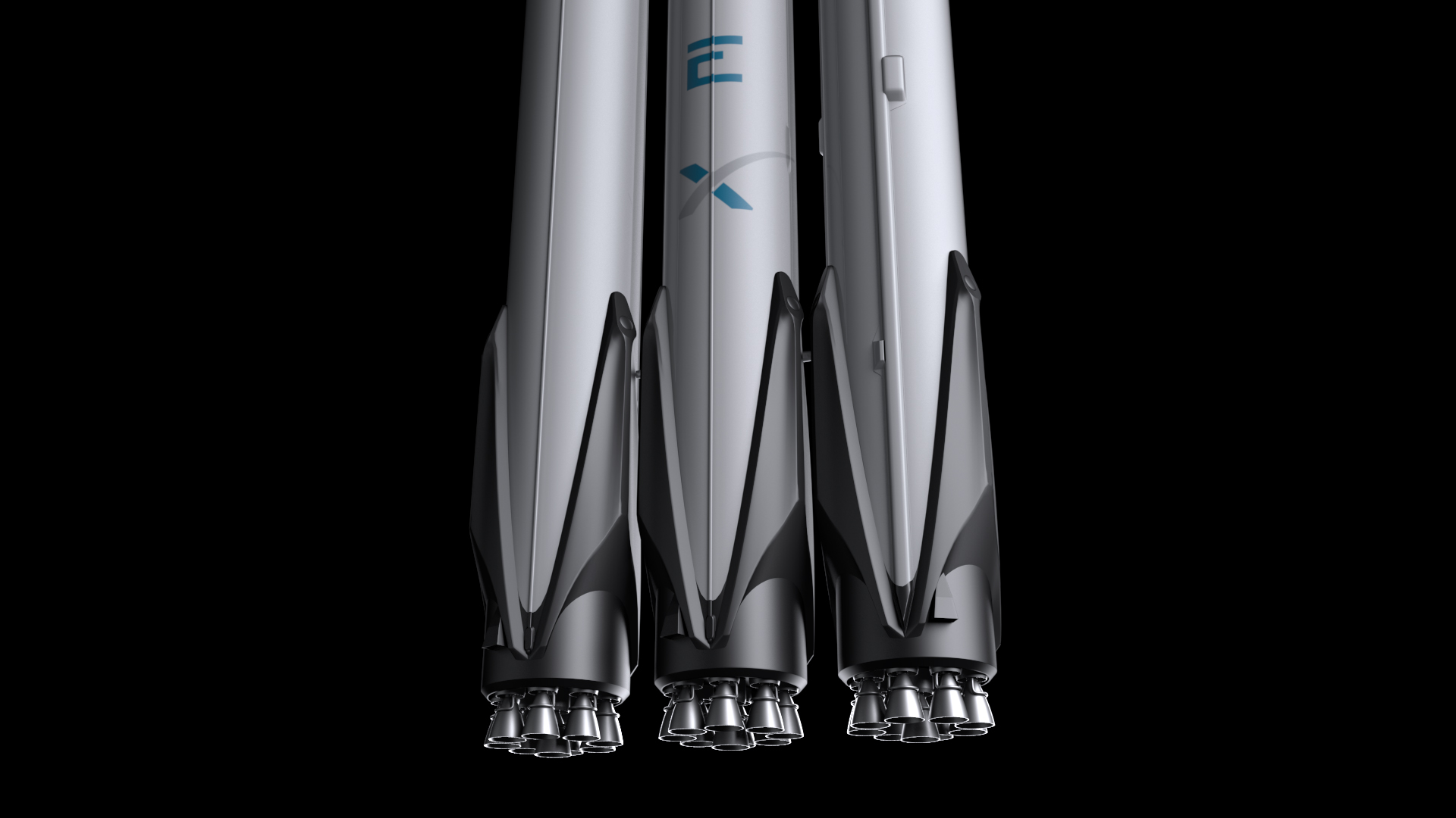 falcon heavy v1.2 fully reusable 3d model max fbx c4d lwo ma mb hrc xsi obj 277861