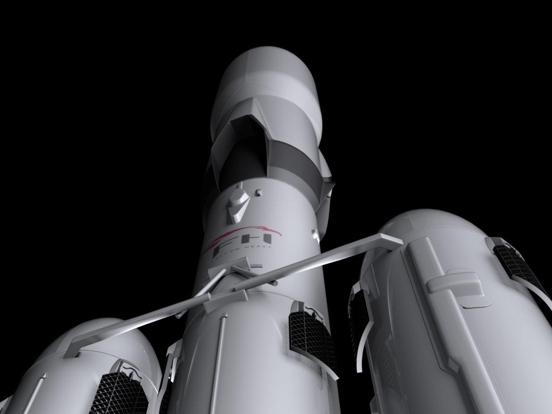 Falcon Heavy V1.2 Fully Reusable 3d model  max fbx c4d lwo lws lw ma mb  obj