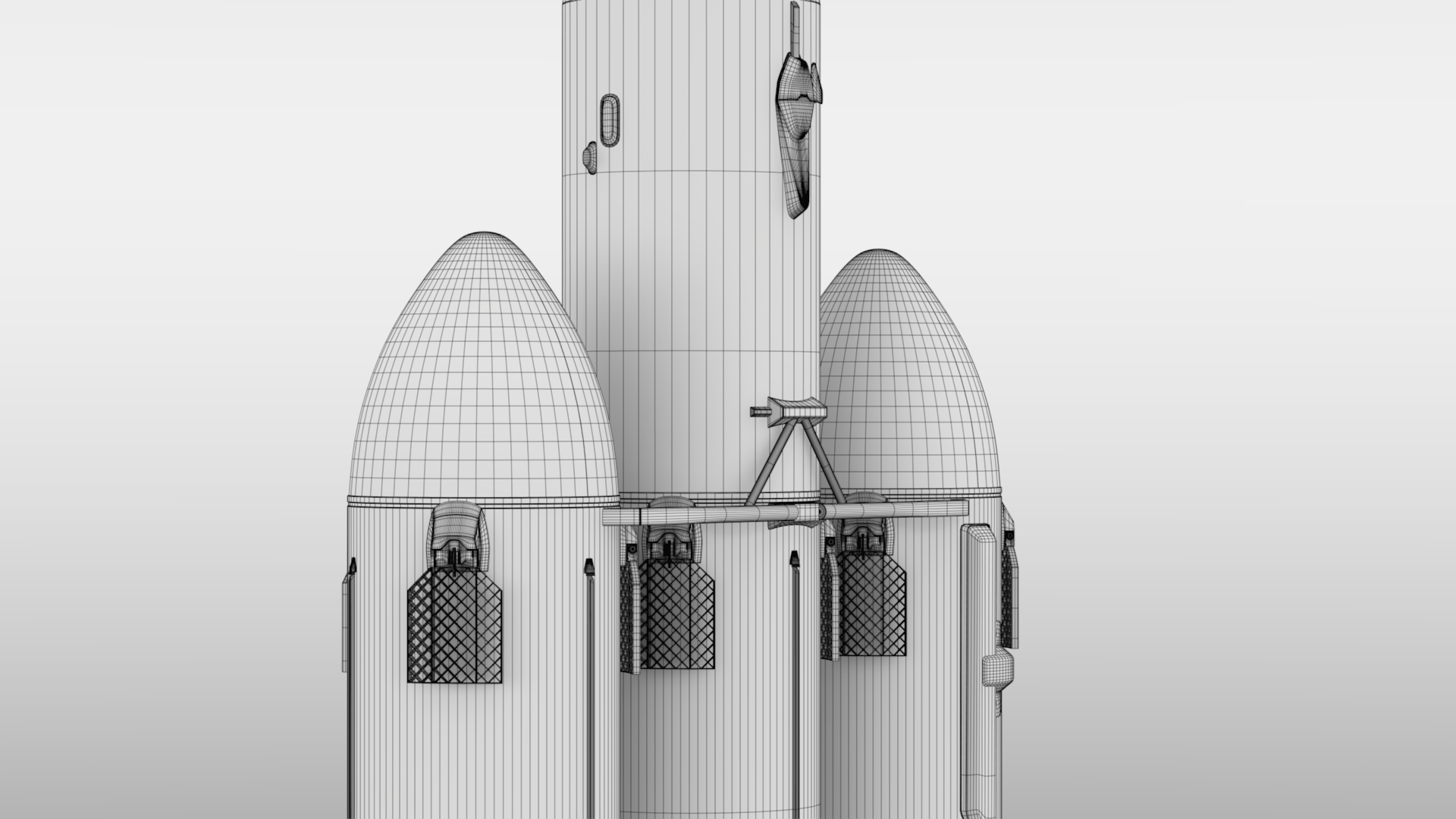 falcon heavy v1.2 fully reusable 3d model max fbx c4d lwo ma mb hrc xsi obj 277873