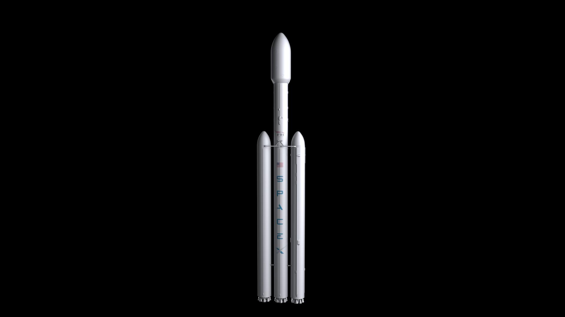 Falcon Heavy V1.2 Non Reusable 3d model max fbx c4d lwo lws lw ma mb  obj 277886