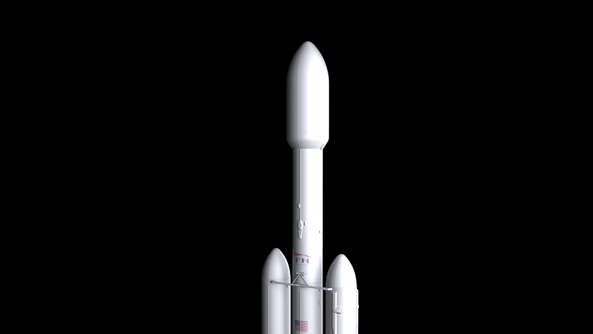 falcon heavy v1.2 non reusable 3d model max fbx c4d lwo ma mb hrc xsi obj 277889
