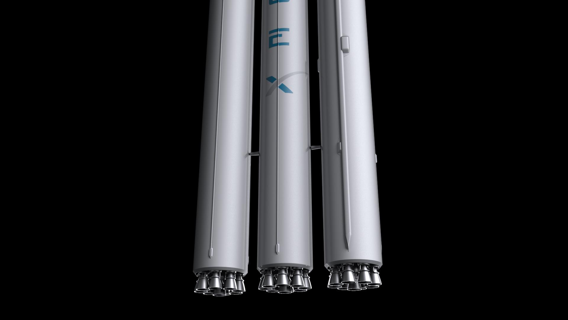 Falcon Heavy V1.2 Non Reusable 3d model max fbx c4d lwo lws lw ma mb  obj 277891