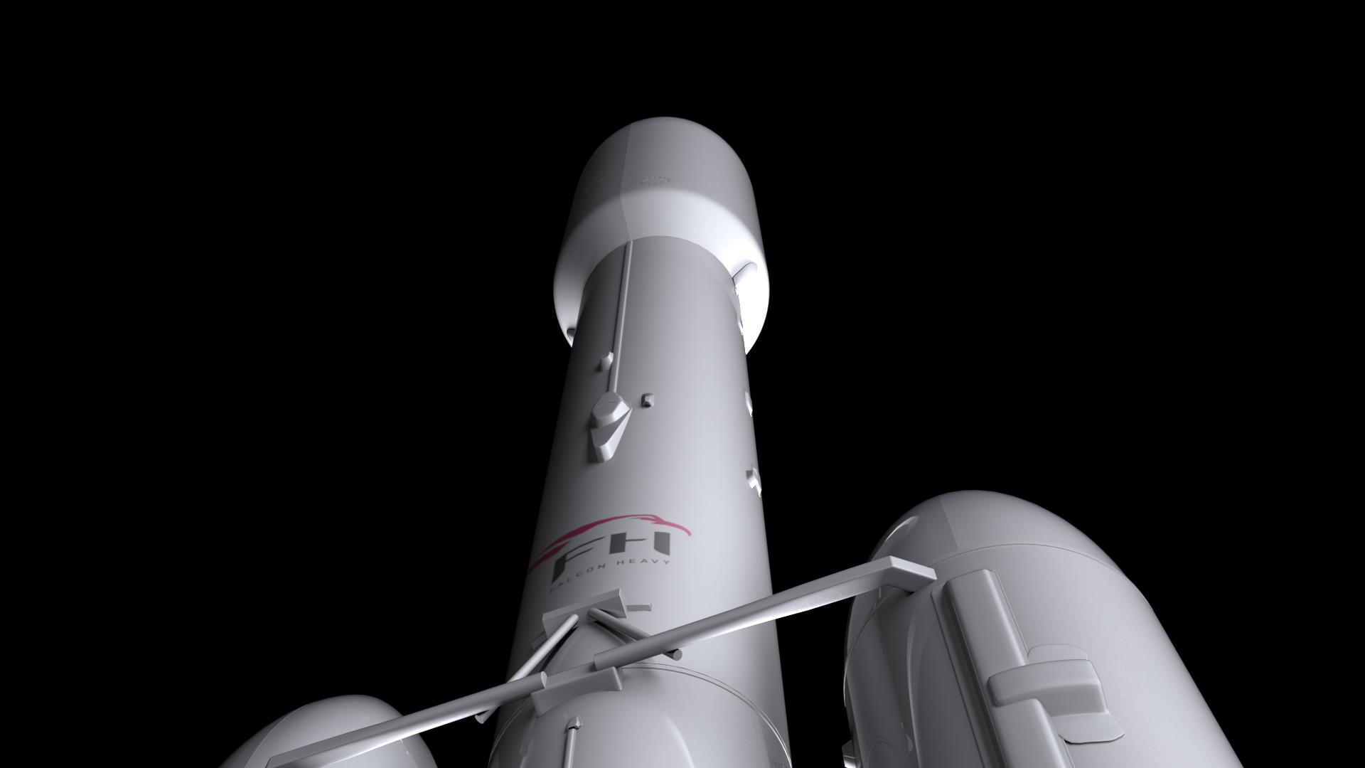 Falcon Heavy V1.2 Non Reusable 3d model max fbx c4d lwo lws lw ma mb  obj 277895