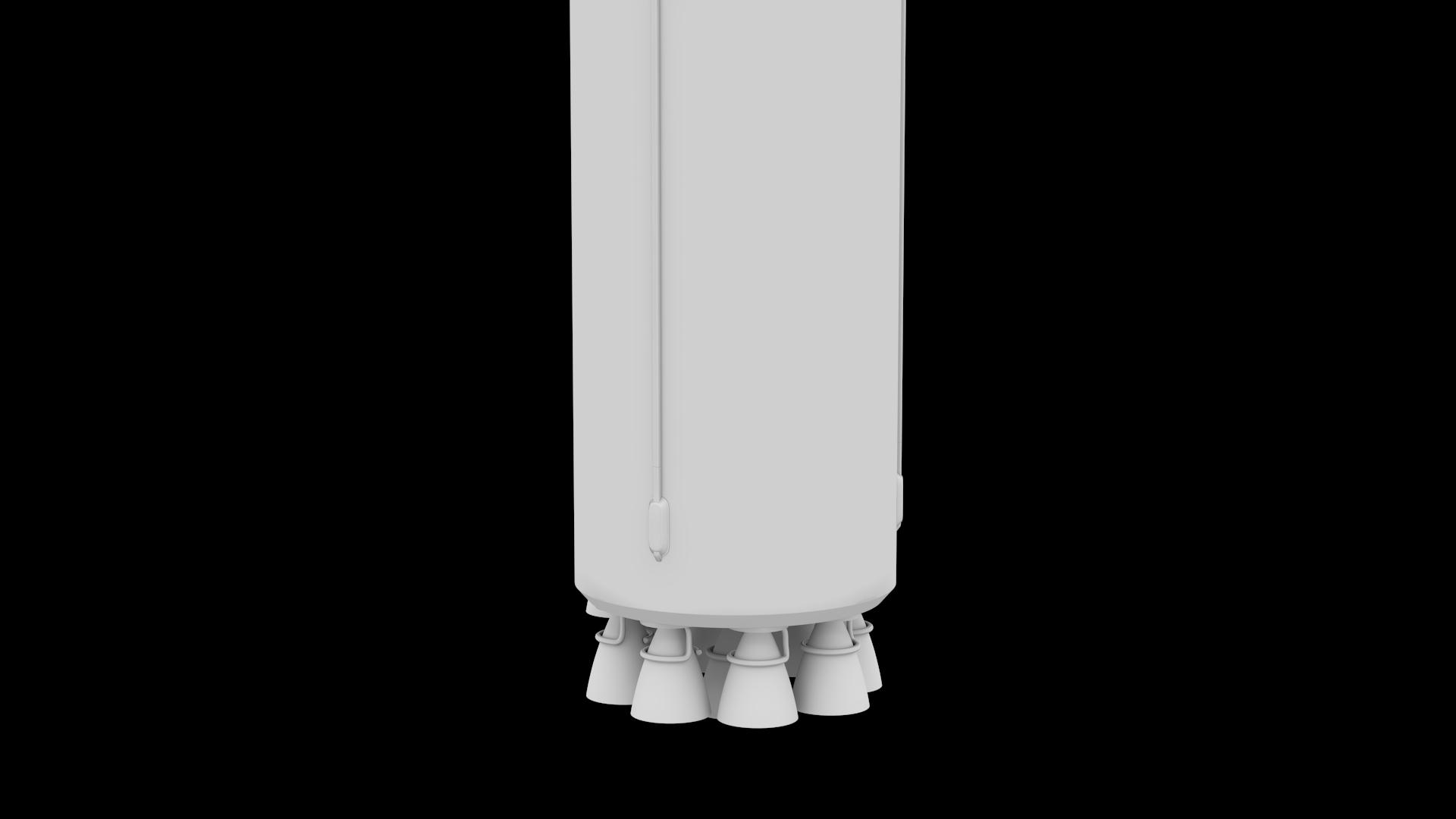 Falcon Heavy V1.2 Non Reusable 3d model max fbx c4d lwo lws lw ma mb  obj 277896