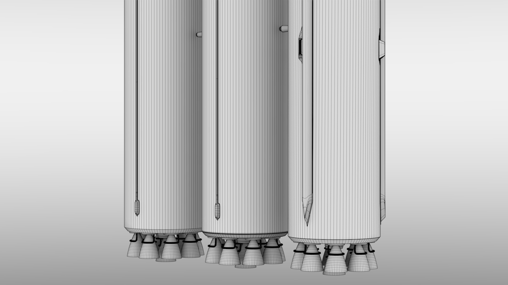 Falcon Heavy V1.2 Non Reusable 3d model max fbx c4d lwo lws lw ma mb  obj 277902