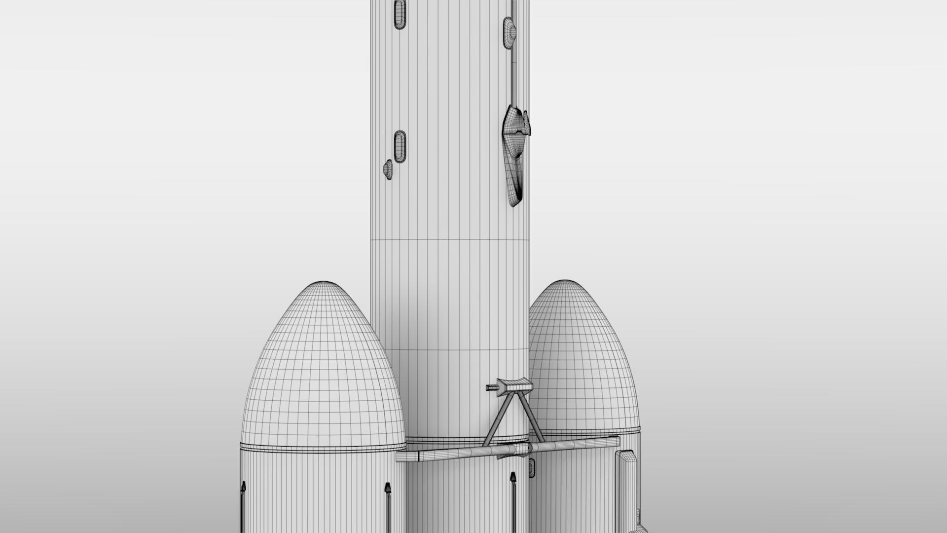 Falcon Heavy V1.2 Non Reusable 3d model max fbx c4d lwo lws lw ma mb  obj 277903