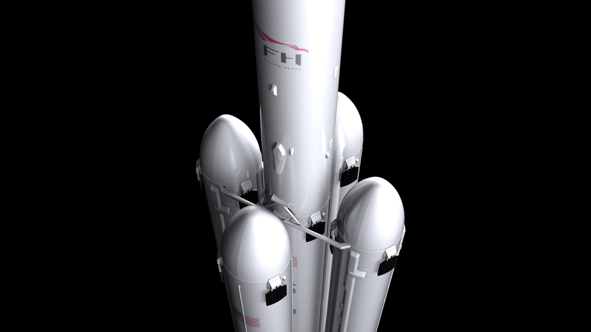 falcon super heavy v1.2 3d model max fbx c4d lwo ma mb hrc xsi obj 277916