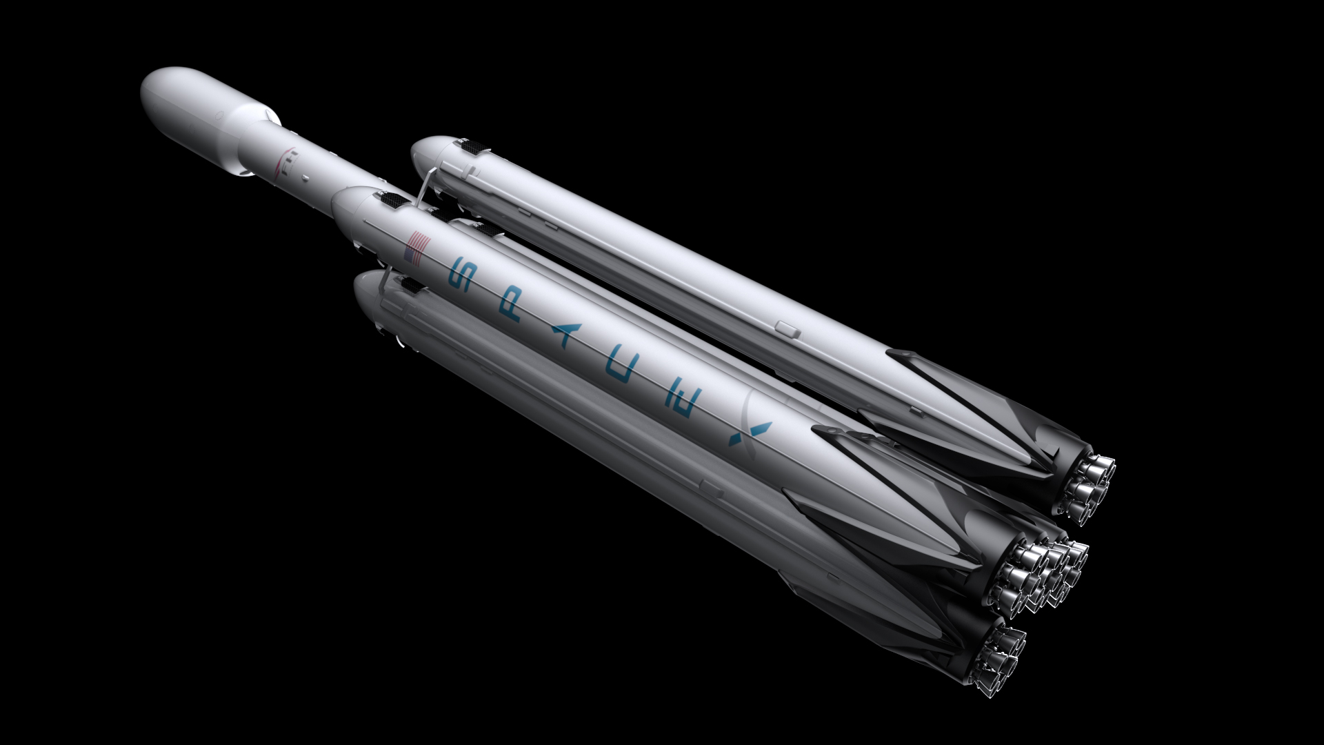 falcon super heavy v1.2 3d model max fbx c4d lwo ma mb hrc xsi obj 277921