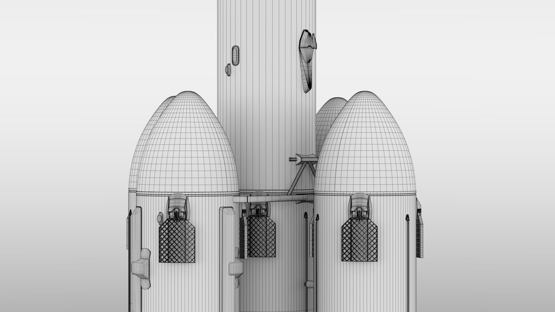 falcon super heavy v1.2 3d model max fbx c4d lwo ma mb hrc xsi obj 277931