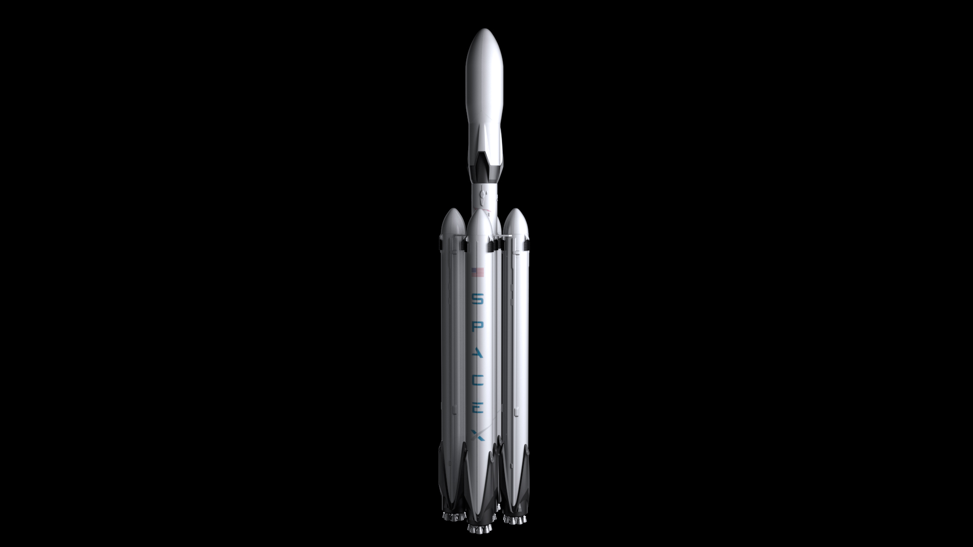 Falcon Super Heavy V1.2 Fully Reusable 3d model max fbx c4d lwo ma mb hrc xsi obj 277942