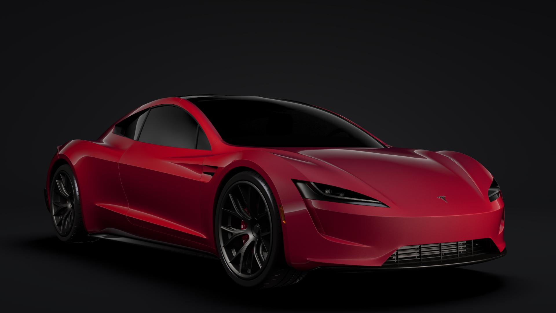 Tesla Roadster 2020 3d Model Buy Tesla Roadster 2020 3d