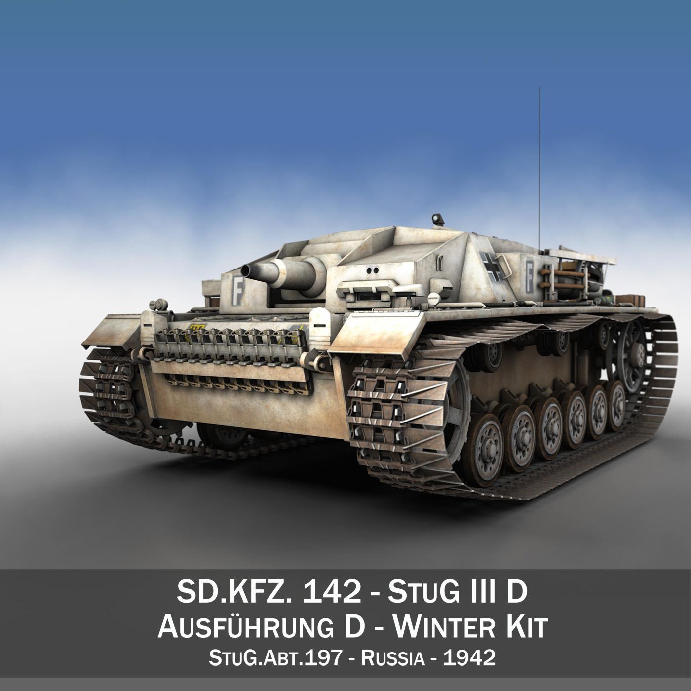 stug iii – ausf.d – stug.abt. 197 3d model 3ds fbx c4d lwo obj 278084