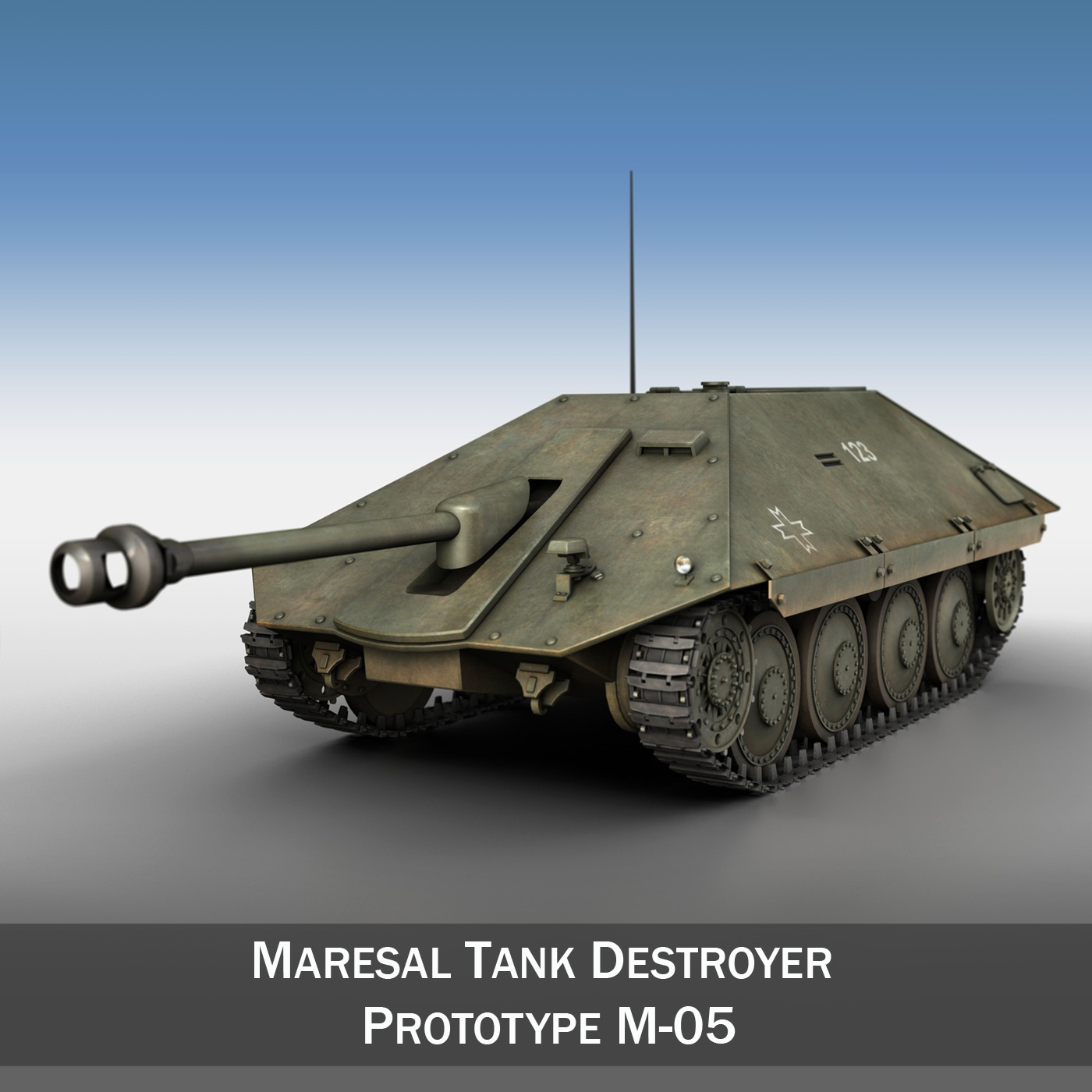 maresal m05 – romanian tank destroyer 3d model 3ds fbx c4d lwo obj 278104