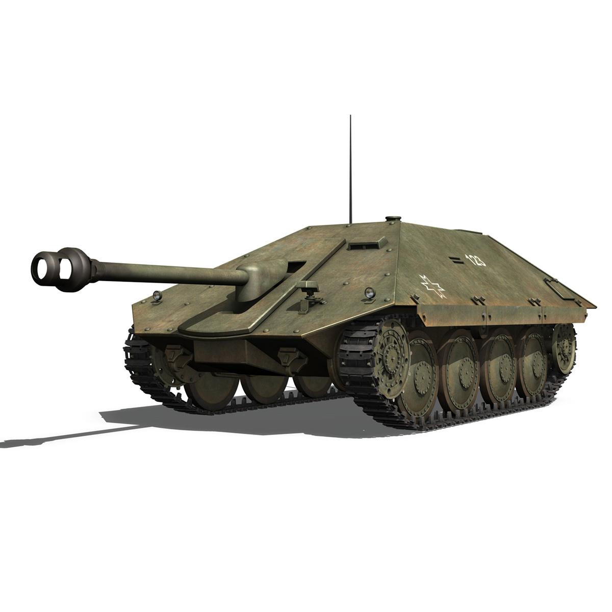 maresal m05 – romanian tank destroyer 3d model 3ds fbx c4d lwo obj 278105
