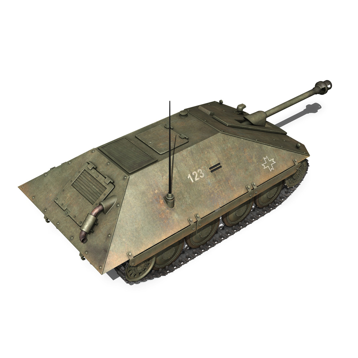 maresal m05 – romanian tank destroyer 3d model 3ds fbx c4d lwo obj 278109