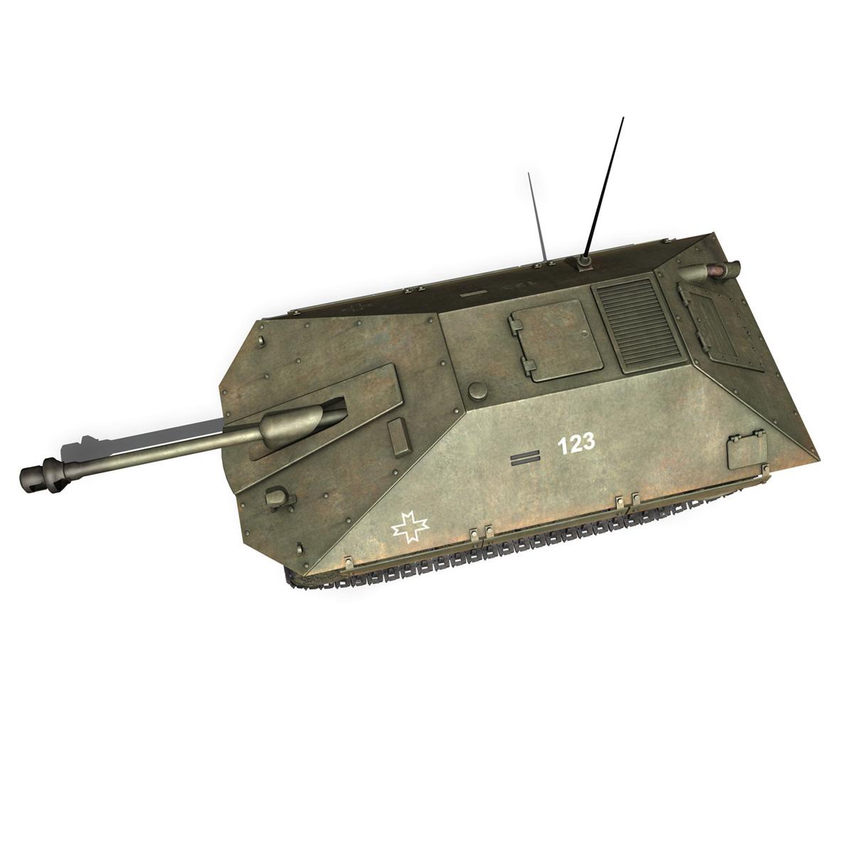 maresal m05 – romanian tank destroyer 3d model 3ds fbx c4d lwo obj 278111