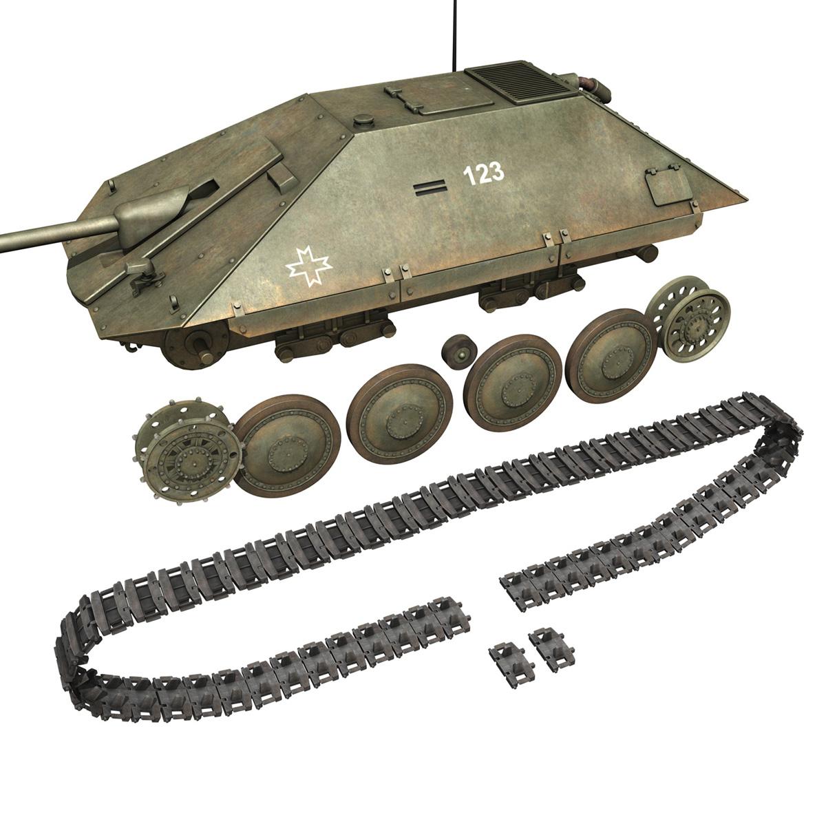 maresal m05 – romanian tank destroyer 3d model 3ds fbx c4d lwo obj 278112