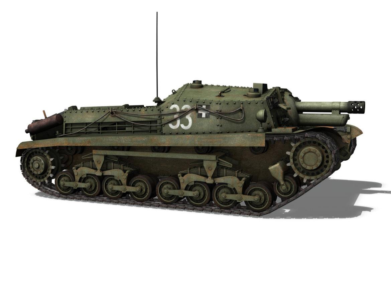 43M Zrinyi II - Assault Gun - 3rd Battery 33 3d model  3ds fbx c4d lwo lws lw obj