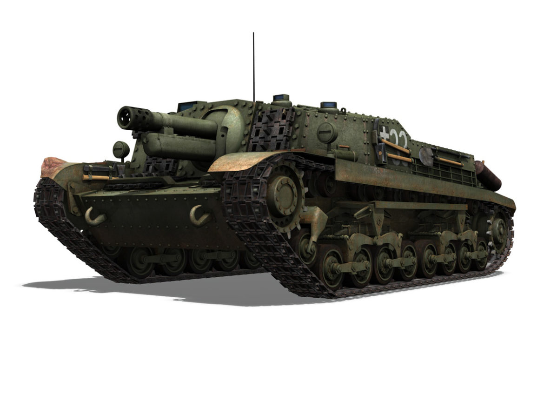 43M Zrinyi II - Assault Gun - 3rd Battery 33 3d model high poly virtual reality 3ds fbx c4d lwo lws lw obj