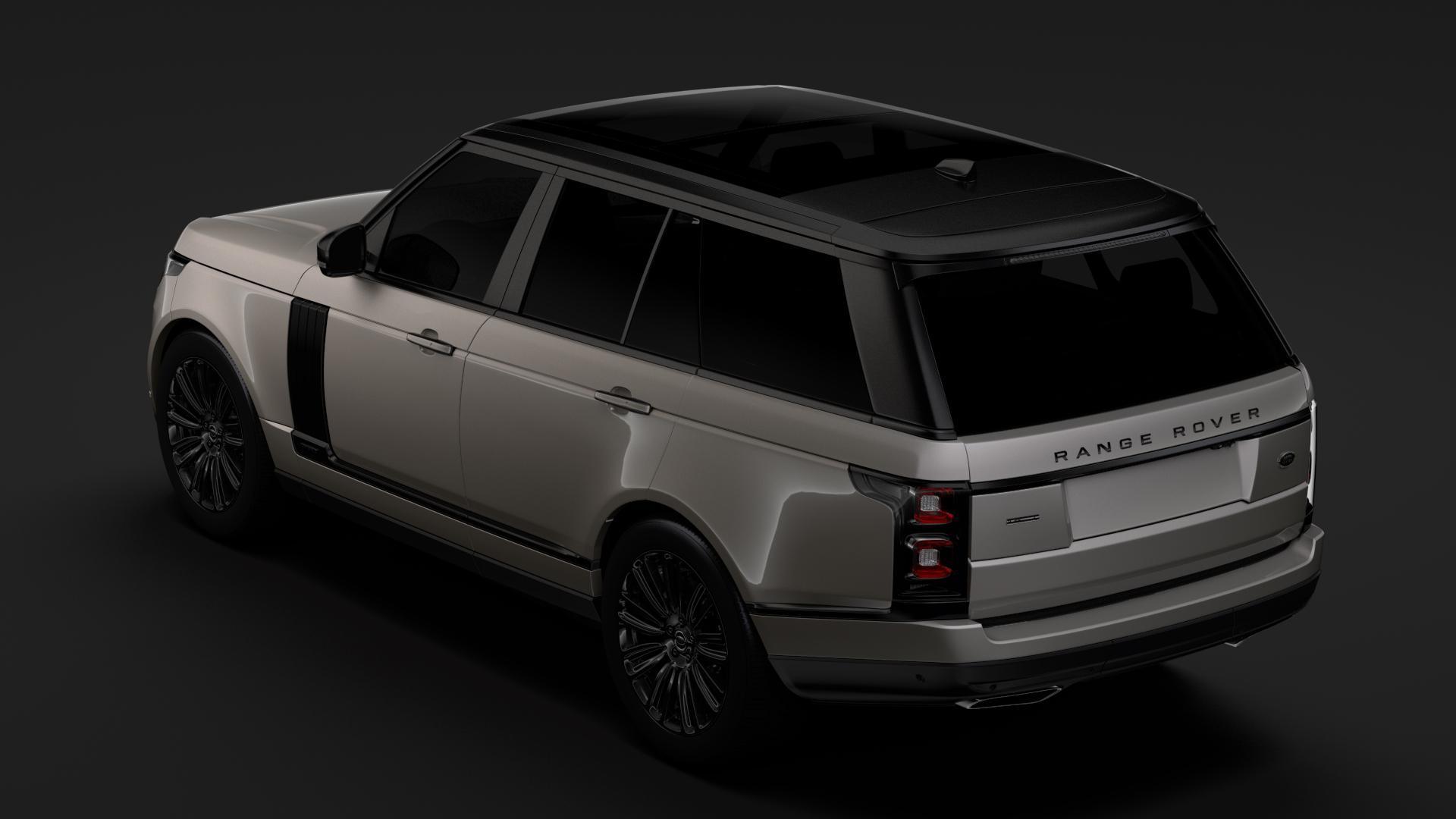 range rover autobiography hybrid (l405) 2018 3d model max fbx c4d lwo ma mb hrc xsi obj 278148