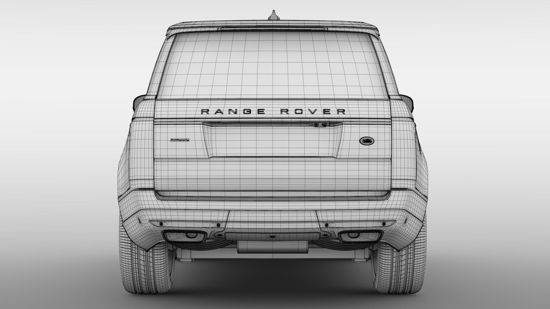 range rover autobiography hybrid (l405) 2018 3d model max fbx c4d lwo ma mb hrc xsi obj 278160