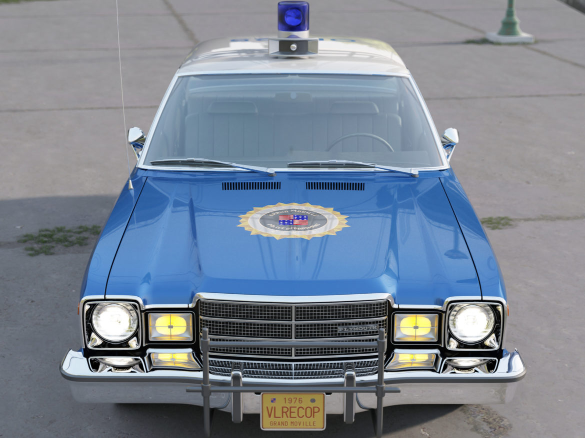 plymouth volare police 1976 3d model 3ds max fbx c4d obj 278345