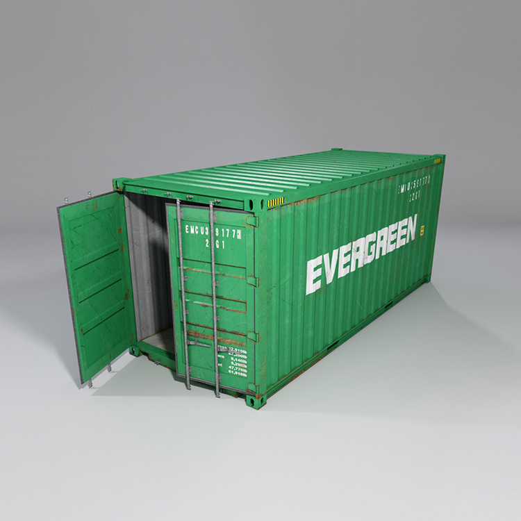 20 feet shipping container 3d model max fbx ma mb obj 278368