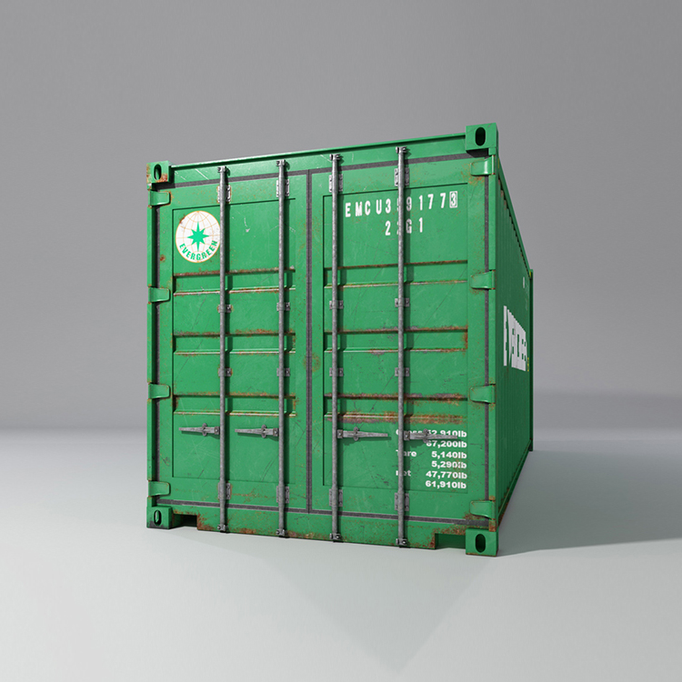 20 feet shipping container 3d model max fbx ma mb obj 278369