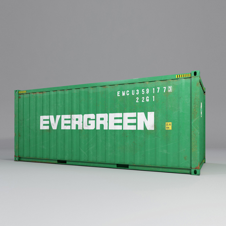 20 feet shipping container 3d model max fbx ma mb obj 278372