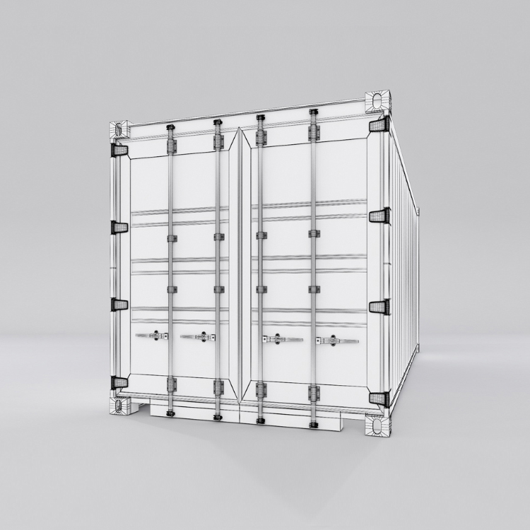 20 feet shipping container 3d model max fbx ma mb obj 278375