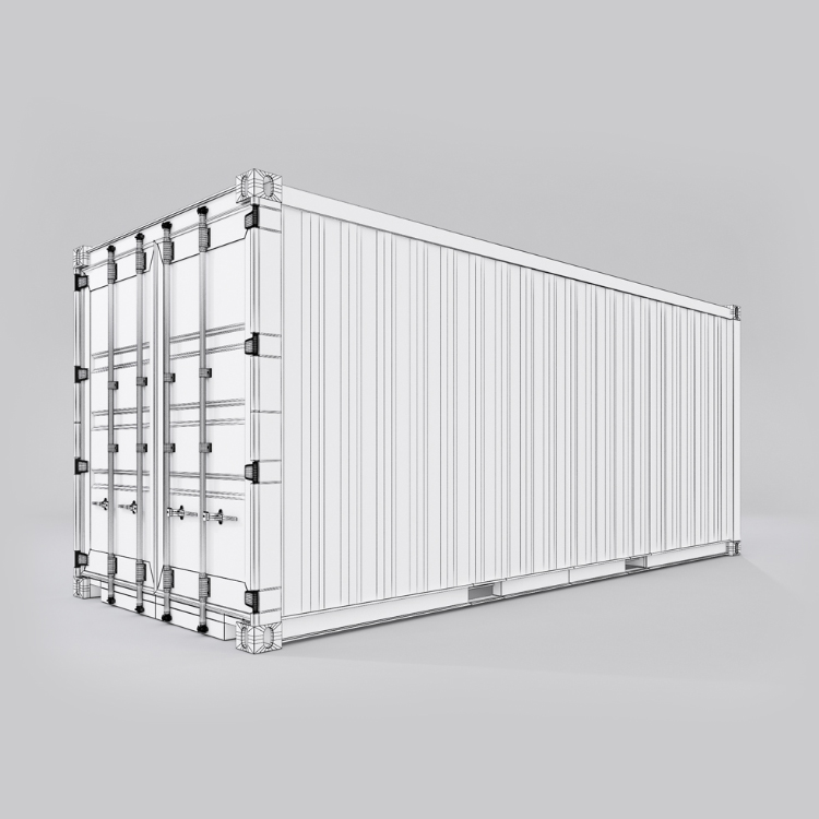 20 feet shipping container 3d model max fbx ma mb obj 278376