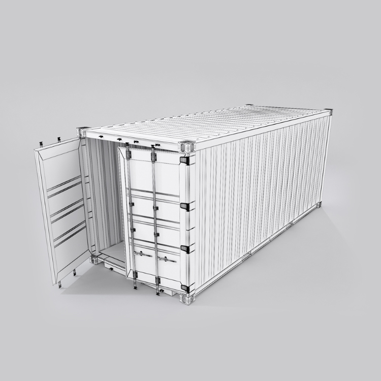 20 feet shipping container 3d model max fbx ma mb obj 278377
