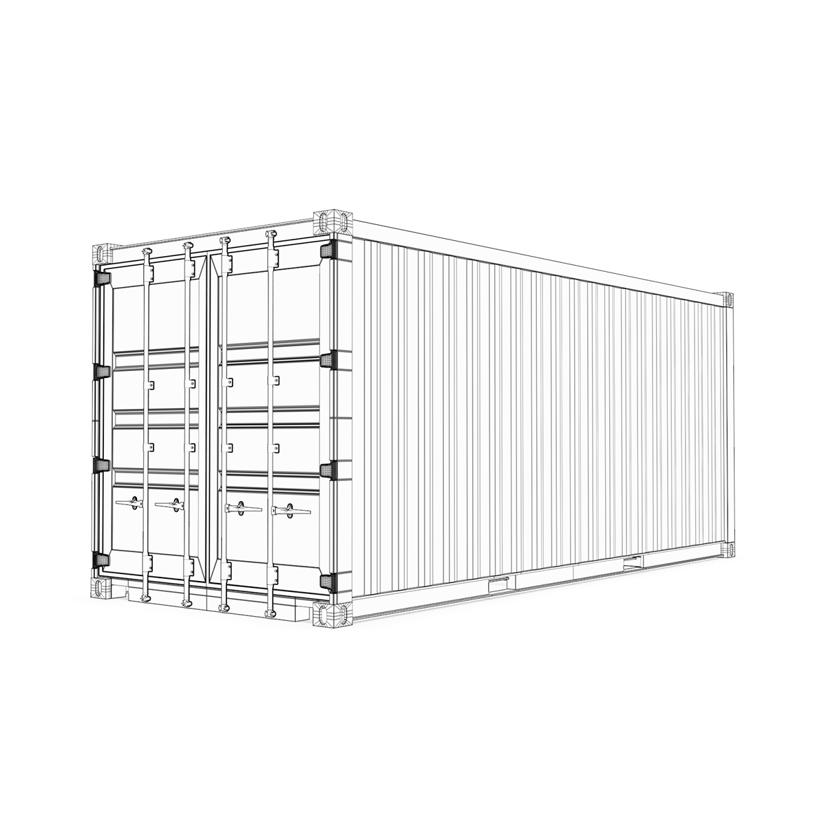 20 feet msc standard shipping container 3d model 3ds max fbx ma mb obj 278387