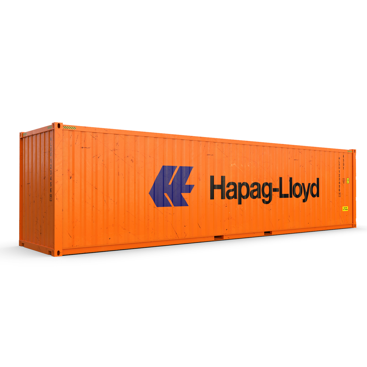 40 feet high cube hapag lloyd shipping container 3d model max fbx ma mb texture obj 278421