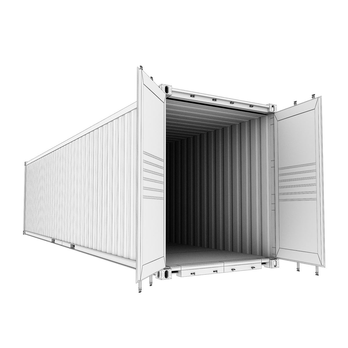 40 feet high cube hapag lloyd shipping container 3d model max fbx ma mb texture obj 278424
