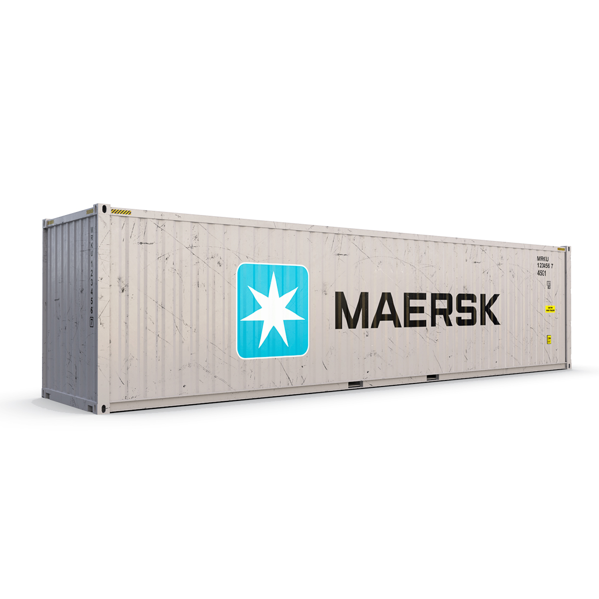 40 feet high cube maersk shipping container 3d model max fbx ma mb texture obj 278428