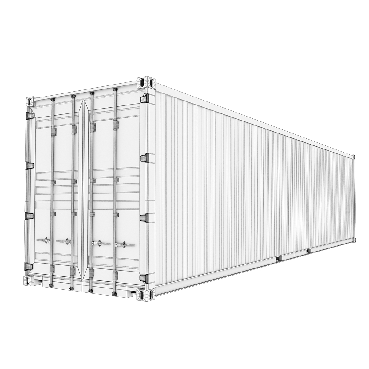 40 feet high cube maersk shipping container 3d model max fbx ma mb texture obj 278437