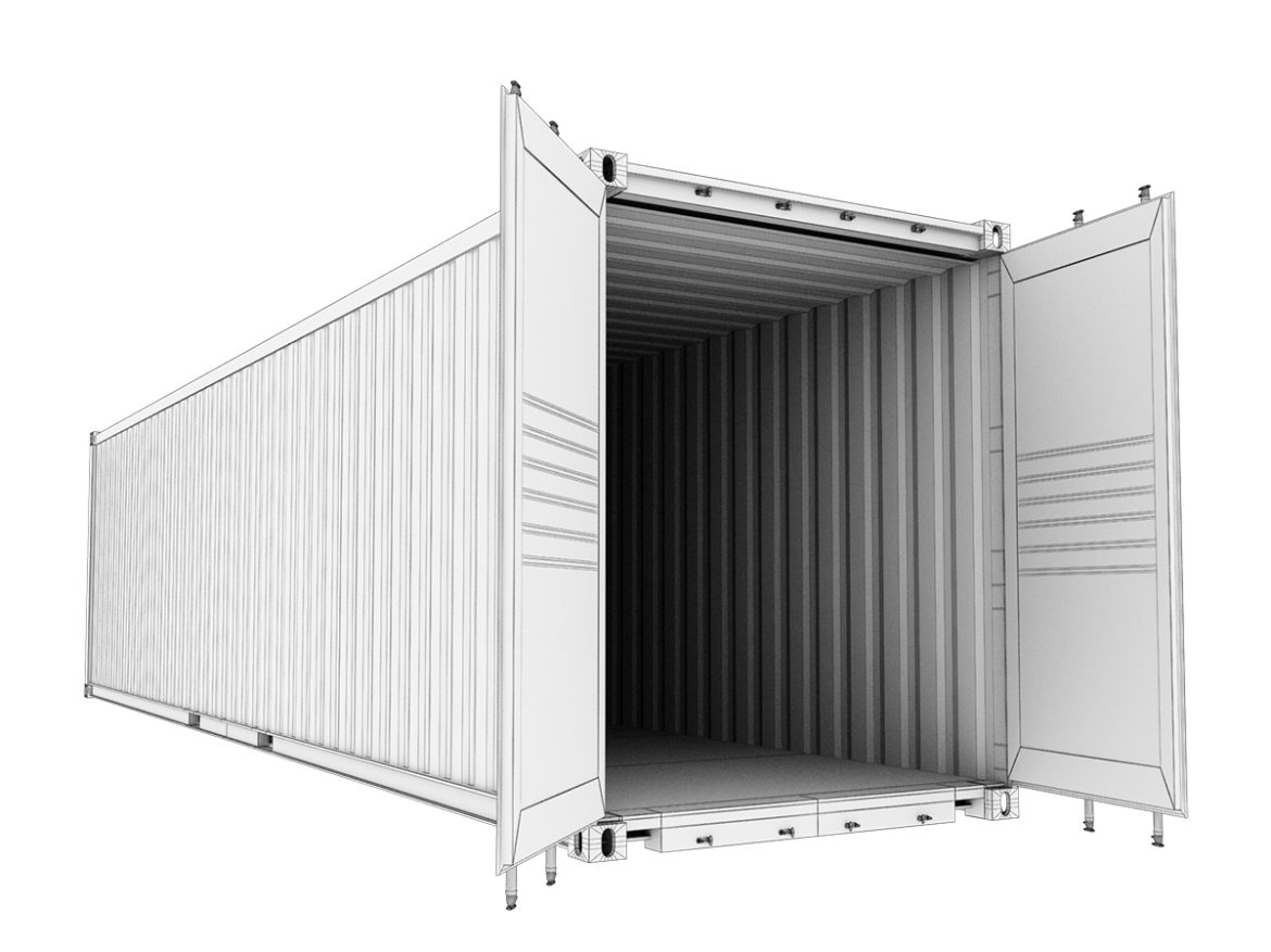40 feet High Cube Maersk shipping container 3d model max fbx ma mb  obj