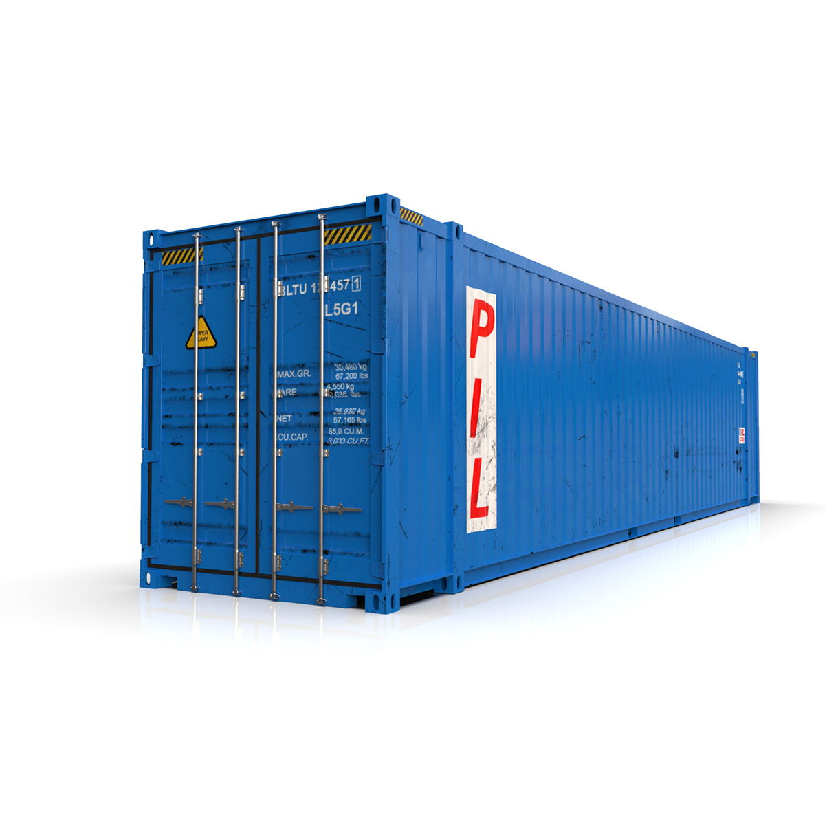 45 feet high cube pil shipping container 3d model max fbx ma mb texture obj 278441