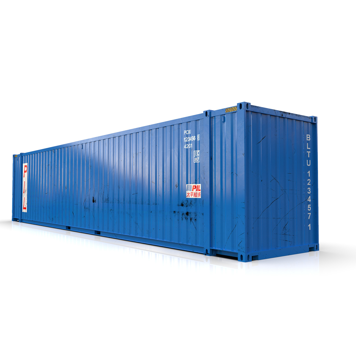 45 feet high cube pil shipping container 3d model max fbx ma mb texture obj 278442