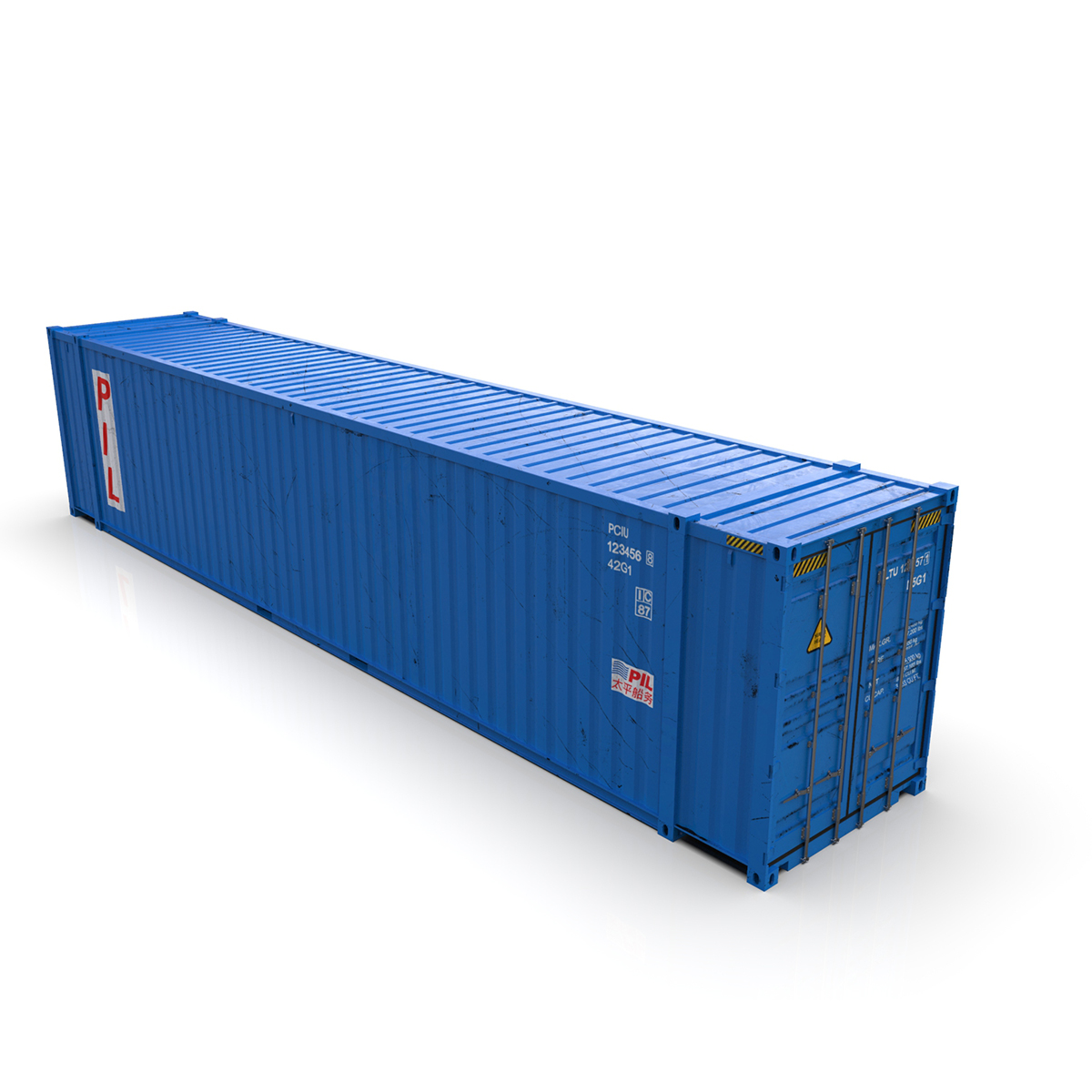 45 feet high cube pil shipping container 3d model max fbx ma mb texture obj 278443